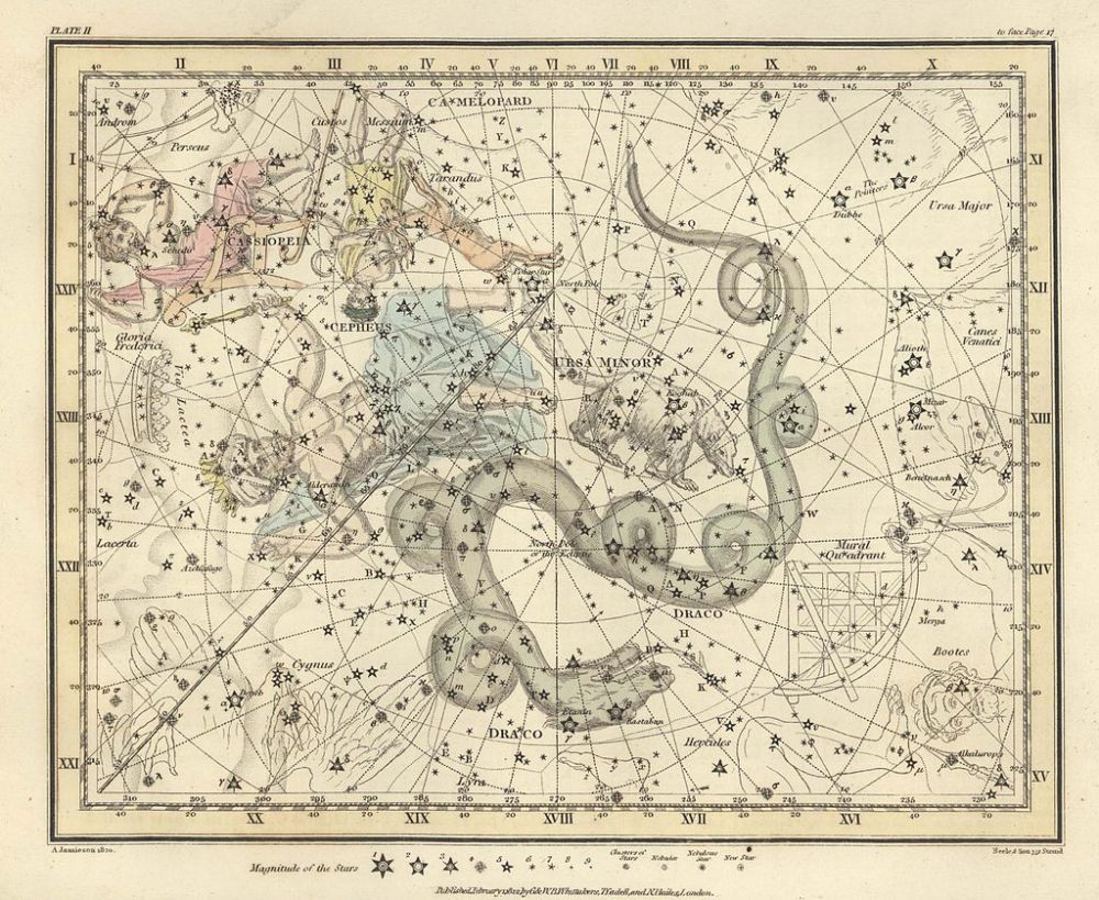 Ουράνιος χάρτης A celestial atlas comprising a systematic display of the heavens in a series of thirty maps illustrated by scientific description of their contents and accompanied by catalogues of the stars and astronomical exercises wikipedia URL [https://commons.wikimedia.org/wiki/Category:Ursa_Minor]