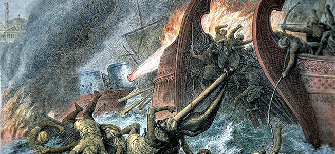Ναυμαχία Βυζαντινών Σαρακηνών 678.