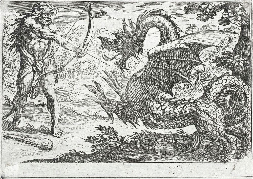 Ο Ηρακλής σκοτώνει τον Δράκο-φύλακα των κήπων της Ήρας wikipedia URL [https://commons.wikimedia.org/wiki/Category:Apples_of_the_Hesperides]