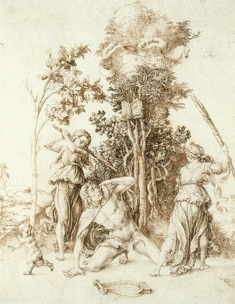 Ο Θάνατος του Ορφέα Death of Orpheus, by Dürer (1494) Wikipedia URL [https://en.wikipedia.org/wiki/Orpheus]