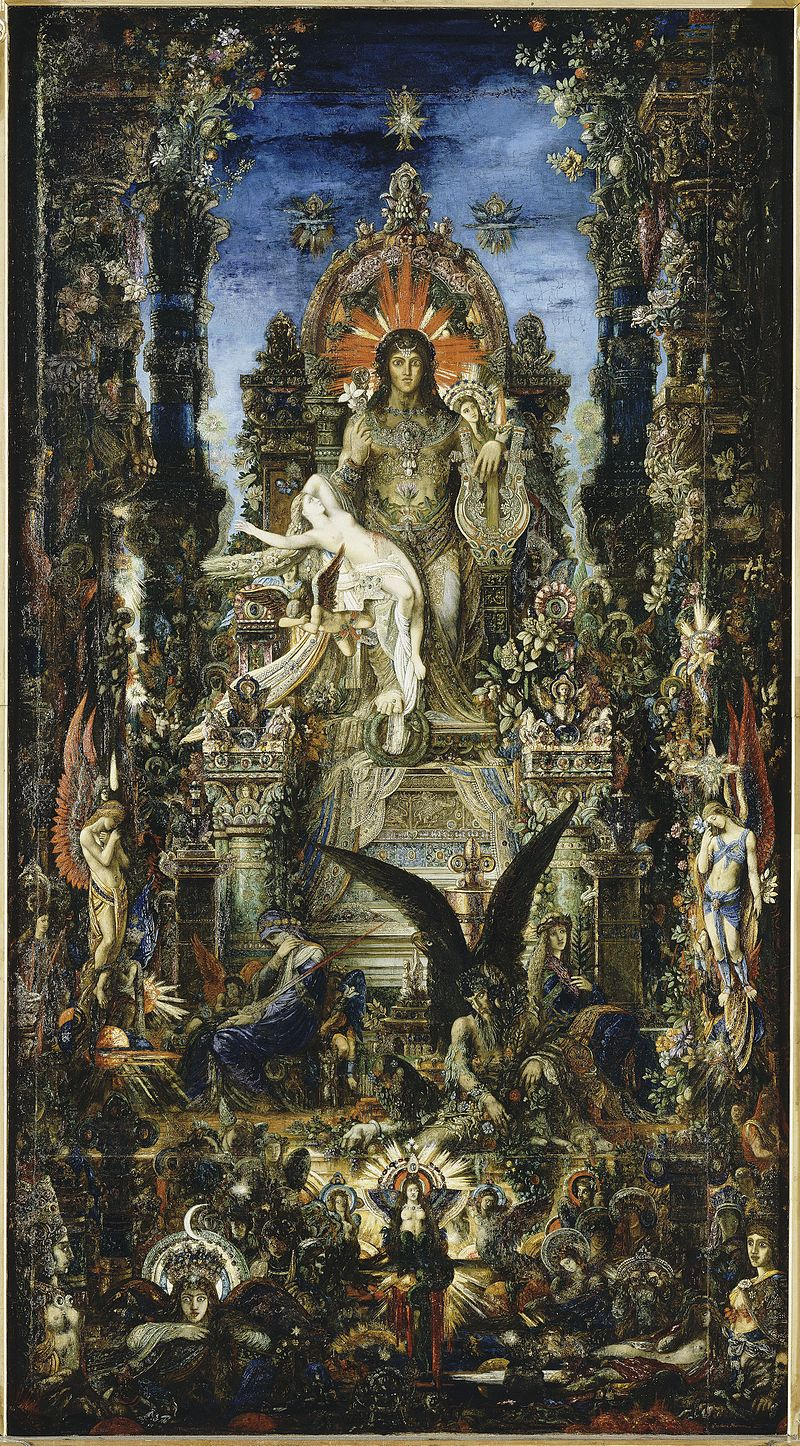 Δίας και Σεμέλη Jupiter and Semele (1894-95), by Gustave Moreau wikipedia URL [https://en.wikipedia.org/wiki/Semele]