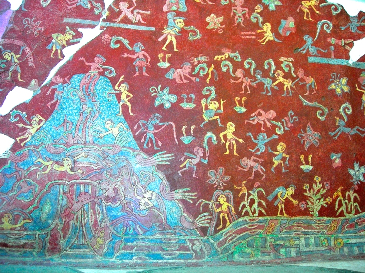 Life scenes of Tlalocan Mural at Tepantitla