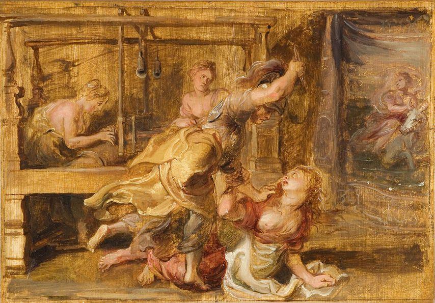 Αθηνά και Αράχνη. Rubens, Peter Paul, 1636-1637, ελαιογραφία. Virginia Museum of Fine Arts. URL
