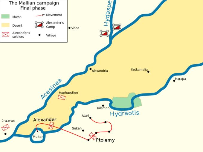 Χάρτης τελικής φάσης εκστρατείας κατά των Μαλλών_πηγή wikipedia