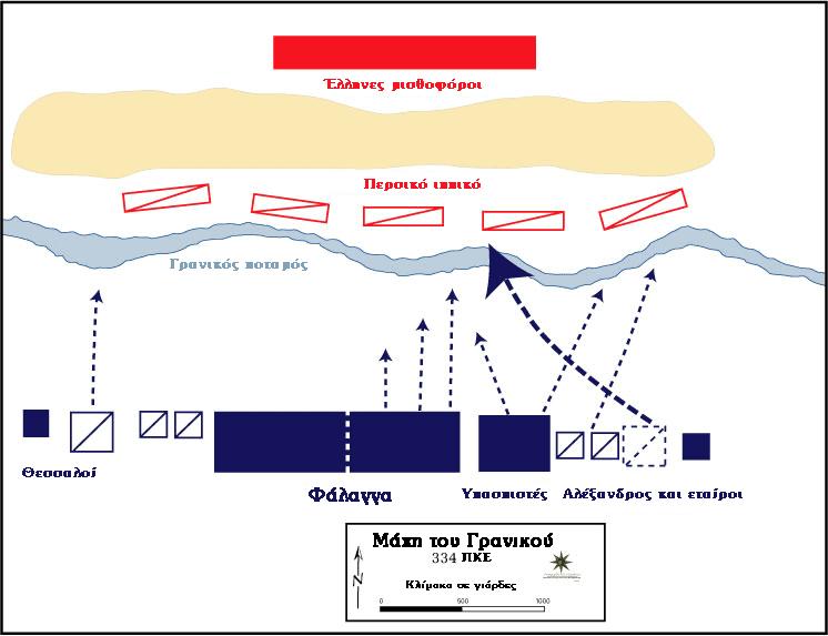 Η παράταξη των αντίπαλων στρατευμάτων κατά τη μάχη