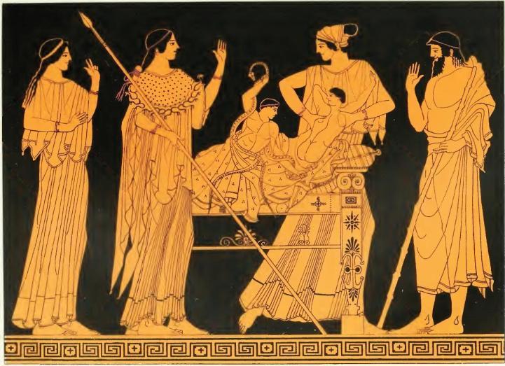 «Ηρακλής και Ιφικλής». Ερυθρόμορφη αγγειογραφία του Ζωγράφου του Βερολίνου. 480-470 π.Χ. Λούβρο
