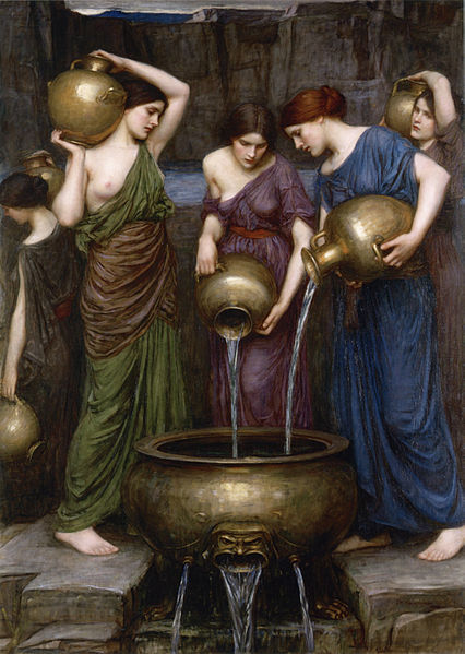 Δαναΐδες Danaides by John William Waterhouse, 1903 wikipedia URL [https://commons.wikimedia.org/wiki/File:Danaides_by_John_William_Waterhouse,_1903.jpg]