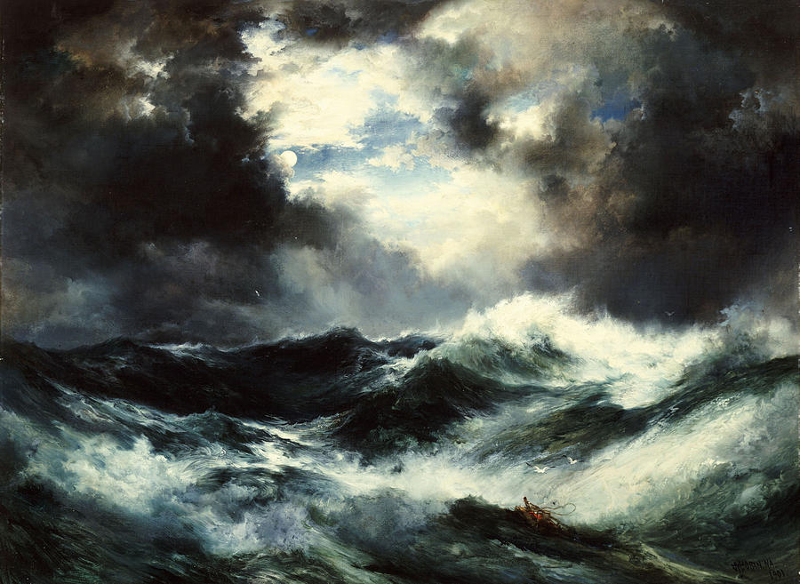 moonlit-shipwreck-at-sea-by-thomas-moran-1901-oil-on-canvas
