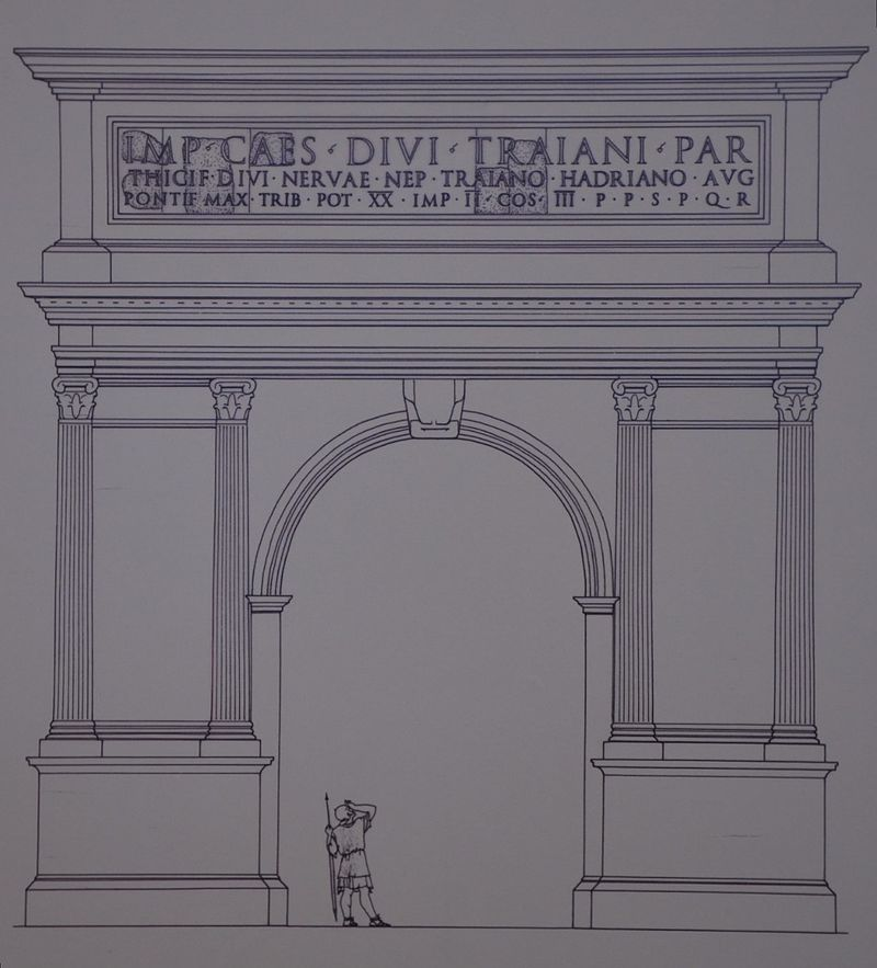 800px-Reconstruction_drawing_of_the_triumphal_arch_dedicated_to_Hadrian_near_the_camp_of_the_Sixth_Legion_at_Tel_Shalem,_Israel_Museum,_Jerusalem_(15472504477)