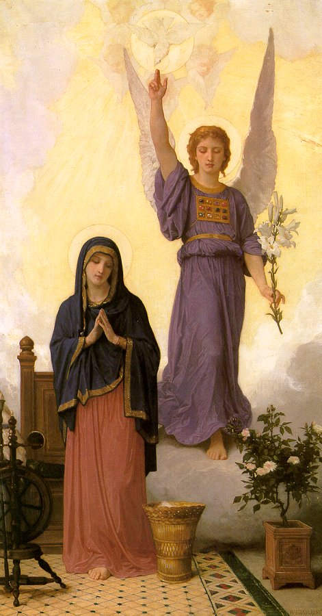 02. The Annunciation (1888) William-Adolphe Bouguereau