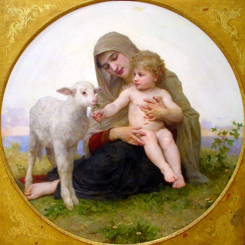 04. Virgin and Lamb (1903) William-Adolphe Bouguereau
