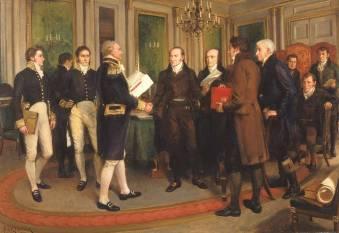 1814_ Η συνθήκη του Γκέντ τερματίζει τον πόλεμο μεταξύ Ηνωμένων Πολιτειών και Μεγ. Βρετανίας.