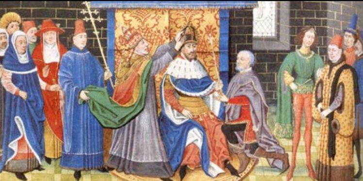 800 μ.Χ_Ο Καρλομάγνος στέφεται αυτοκράτωρ της Αγίας Ρωμαϊκής αυτοκρατορίας.
