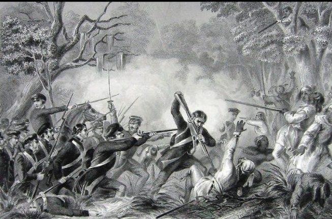1837_Ο στρατός των Ηνωμένων Πολιτειών νικά τους Ινδιάνους Seminole στην μάχη του Okeechobee.