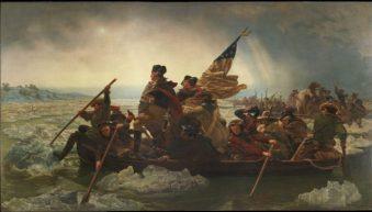 1776_Ο στρατηγός Washington και ο Ομοσπονδιακός στρατός διασχίζουν τον ποταμό Ντελαγουέαρ.